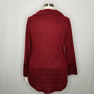 Style & Co Sweaters - tyle & Co Red Geometric Cowl Sweater POCKETS